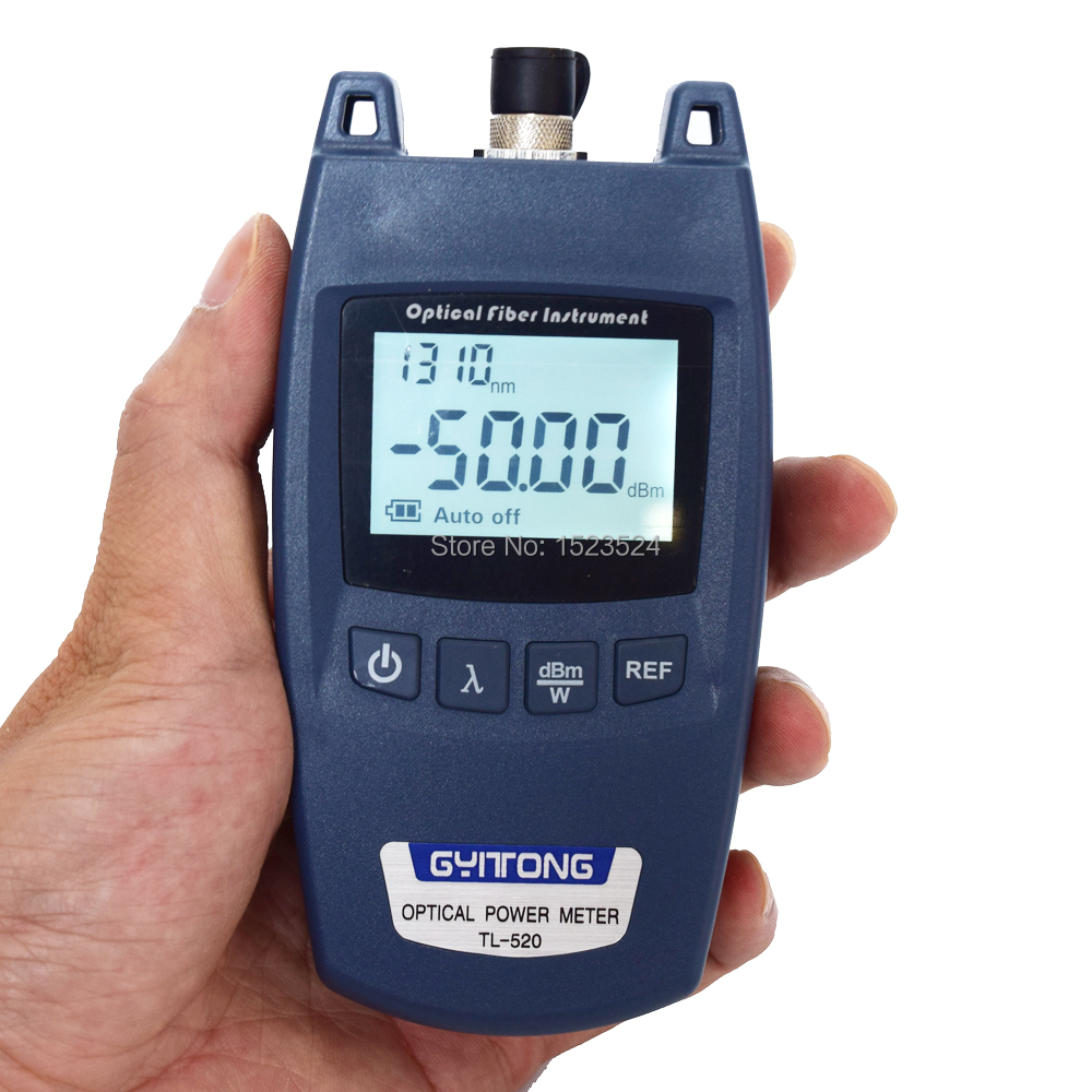 Free Shipping TL-520 Mini Optical Power Meter Fiber Optical Cable Tester Optical Tester -50~+26dBm