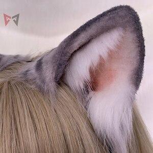 Image 2 - Czarny dzień nowy oryginalny handmade amerykański krótkowłosy ucho hairhoop bestia kot piękny nakrycia głowy wykonane na zamówienie dla cosplay prezent na boże narodzenie