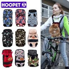 HOOPET Dog carrier fashion red color Travel dog backpack breathable pet bags shoulder puppy