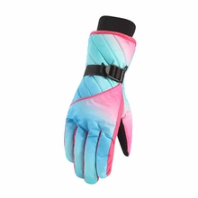 Multifunction Waterproof Breathable Snowboard Gloves Warm Cold-Proof Thickened Plush Ski Gloves Winter Outdoor Sports Gloves super cute cat style warm plush gloves for cold weather black pair