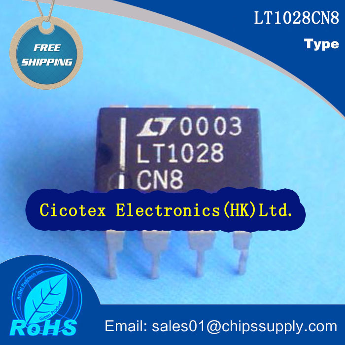 10pcs/lot LT1028CN8#PBF DIP-8 <font><b>IC</b></font> OPAMP GP 75MHZ 8DIP LT1028CN8 image