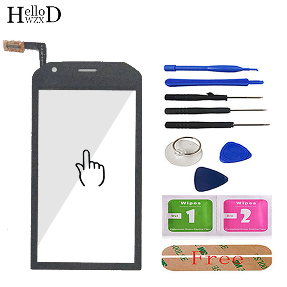 Touch Screen For Cat S40 Touch Screen Glass Digitizer Panel Lens Sensor Front Glass 4.7'' Mobile Phone Tools Adhesive