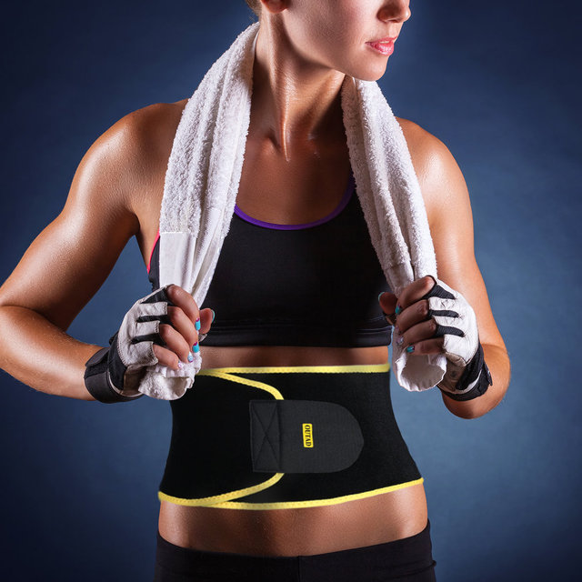 OUTAD Women Waist Trimmer Belt Neoprene Waist Sweat Band for Slimmer Water Weight Loss Mobile Sauna Belts Strengthen Tummy 2