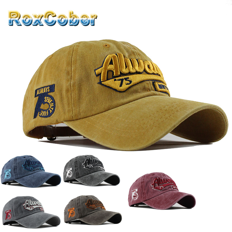[RoxCober] Fashion Cotton baseball cap Letter embroidery outdoor Golf Hat Snapback Caps Visors for Men's Women's 4002