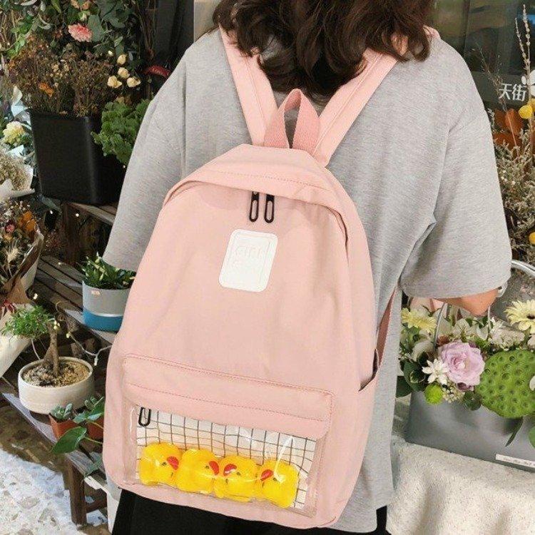 Womens Backpack Girls Bookbags Clear Harajuku Waterproof Travel Small Teen Casual Student