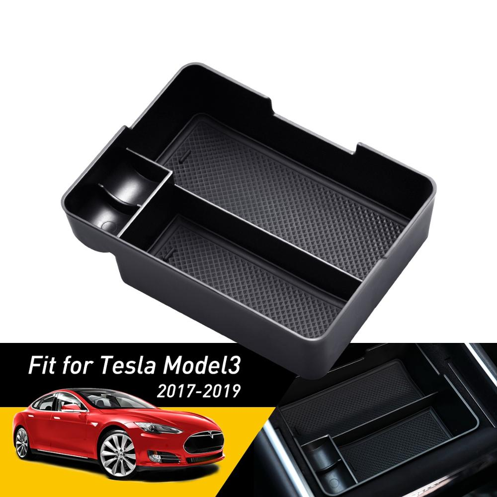 For Tesla Model 3 2017 2018 2019 Accessories Car Armrest Box Storage Center Console Organizer Container Auto Holder Cover Case