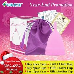 Gran oferta copa Menstrual para mujer higiene femenina 100% médica copa de silicona reutilizable Menstrual copa menstrual que almohadillas