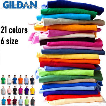 GILDAN Solid color Cotton t shirts men Clothing Male Slim Fit t shirt Man T-shirts Casual brand T-Shirt mens tops tees 63000 gildan solid color cotton t shirts men clothing male slim fit t shirt man t shirts casual brand t shirt mens tops tees 63000