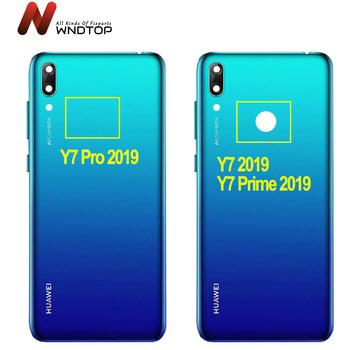 Oryginalny nowy dla Huawei Y7 2019 Y7 Pro 2019 Y7 Prime 2019 powrót pokrywa baterii tylna obudowa Y7 2019 Case Y7 Pro 2019 pokrywa baterii tanie i dobre opinie WNDTOPFIX CN (pochodzenie) For Huawei Y7 2019 Y7 Prime 2019 Y7 Pro 2019 Back Housing For Huawei Y7 2019 Y7 Prime 2019 Y7 Pro 2019