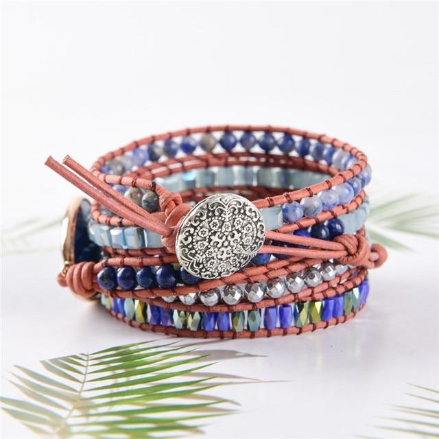 Lapis Lazuli Third Eye Chakra Bracelet buckle