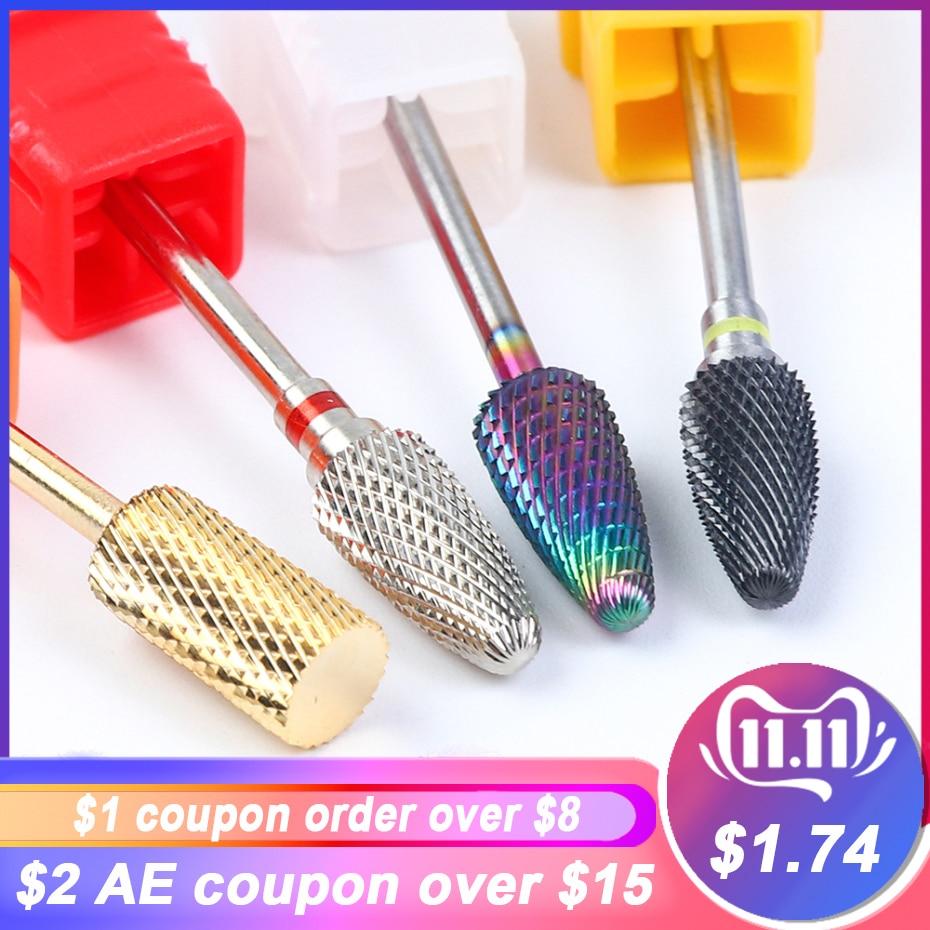 1pc Nail Drill Bits Carbide Milling Cutter For Manicure Machine Cuticle Gel Remover Corundum Pedicure Nail Files Tools LAZL01-04