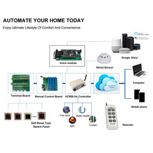 Kincony H8W WiFi Switch Smart Home Kit Automation Module Controller Control Domotica Hogar System Alexa Compatible Google Home