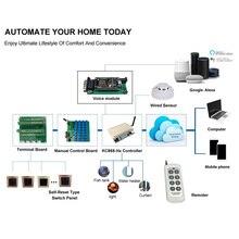 Kincony interruptor wifi h8w, kit de controlador de automação, módulo domótica, hogar, sistema alexa, compatível com google home