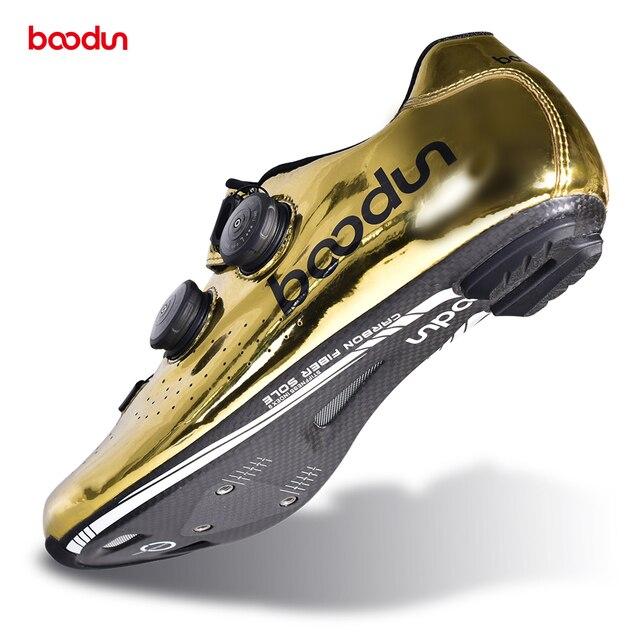 2020 novo tirano ouro estrada ciclismo sapatos de bicicleta de estrada auto-bloqueio sapatos de fibra de carbono ultraleve profissional sapatos de corrida 5