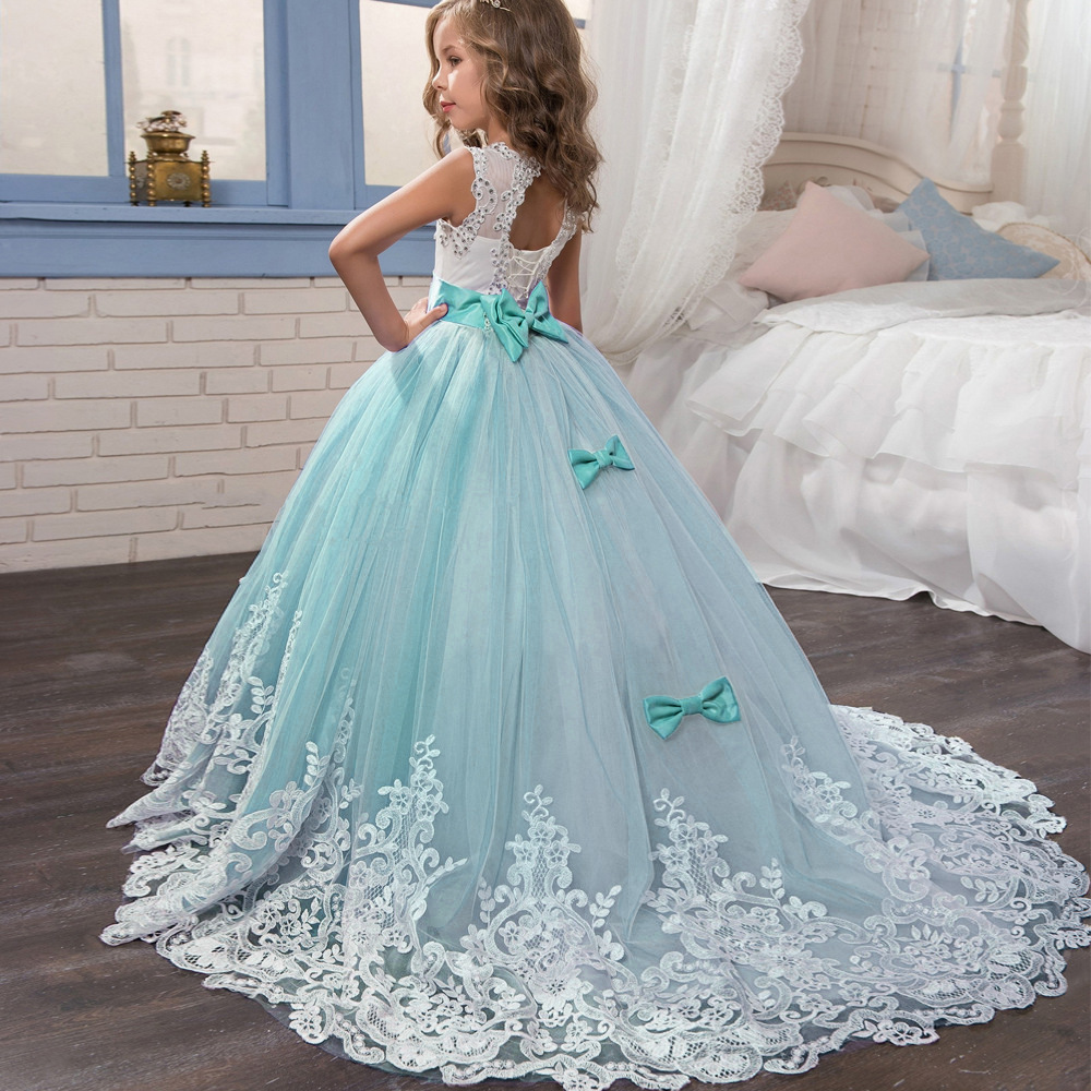 Europe And America New Style Childrenswear Children Lace Long Skirts Tutu Princess Dress Dresses Of Bride Fellow Kids Girls Birt