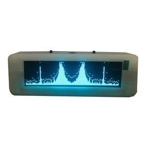 Image 1 - Pantalla de espectro de música OLED para coche, amplificador de Medidor de VU con Control de voz, micrófono, 8 tiempos de efectos de visualización, 3,12