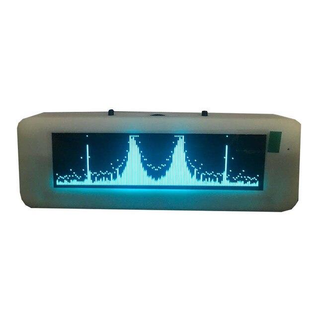 Pantalla de espectro de música OLED para coche, amplificador de Medidor de VU con Control de voz, micrófono, 8 tiempos de efectos de visualización, 3,12