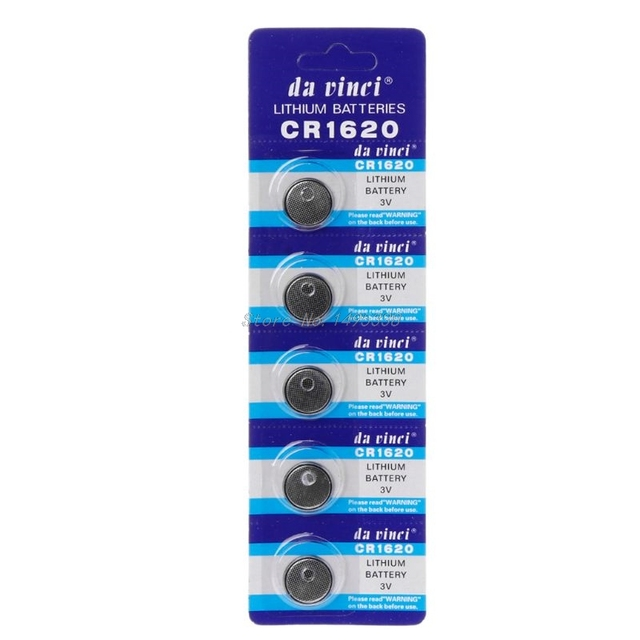 2019 New 5PCS Lithium Battery CR1620 Electronic Button Coin Cell Batteries 3VECR1620 DL1620 5009LC Watch Toy Remote
