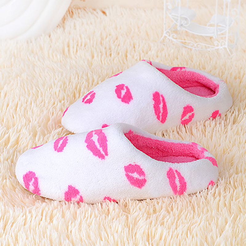 Women Winter Home Slippers Cartoon Shoes Non-slip Soft Winter Warm House Slippers Indoor Bedroom Lovers Couples Floor Shoes