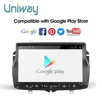 Uniway ALD8071 android 9.0 car dvd for Lada Vesta with one din car radio gps navigation Audio multimedia IPS touch screen gps