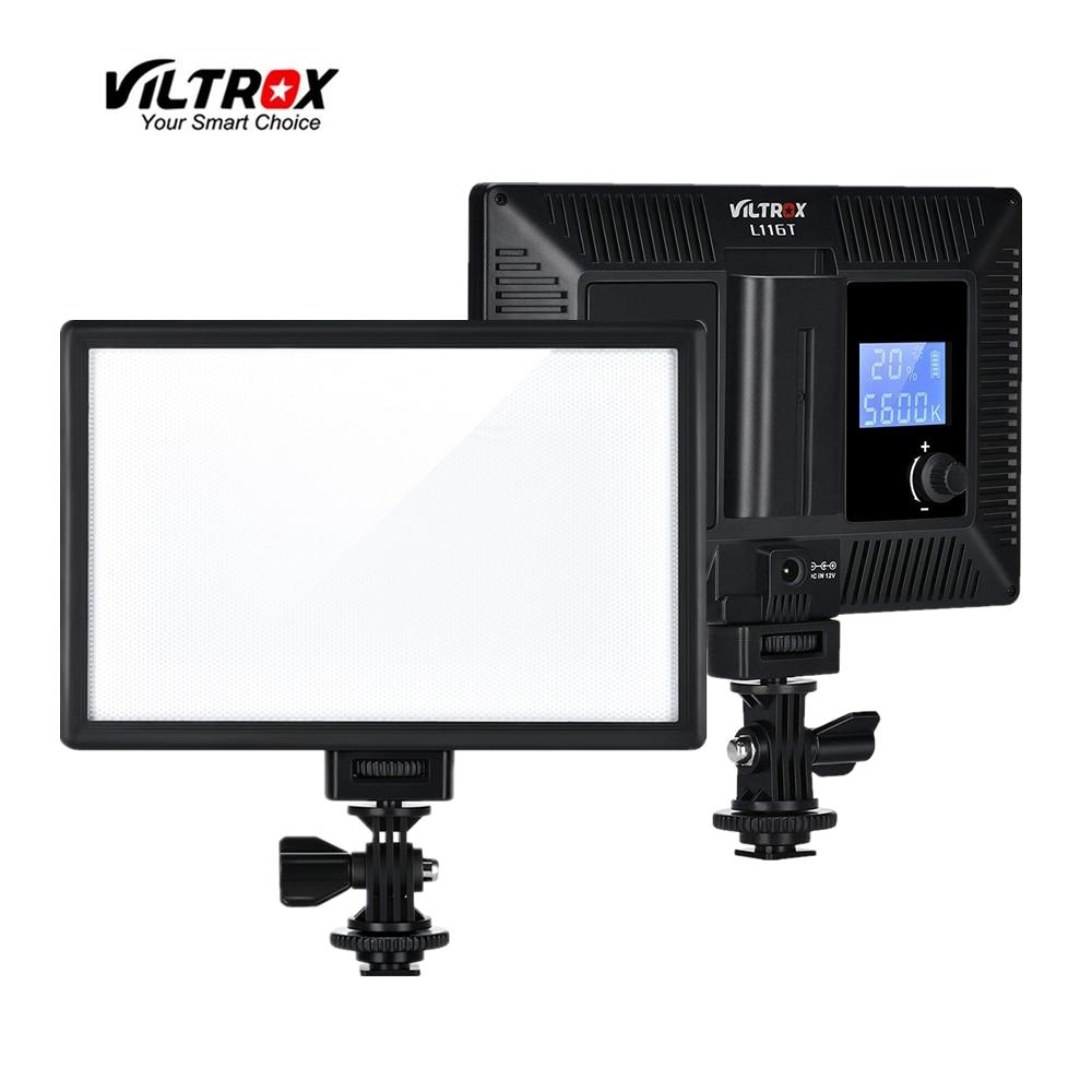 Viltrox L116T LED Video Light Bi-Color Dimmable Slim DSLR + Battery+Charger For Canon Nikon Camera Facebook YouTube Show Live