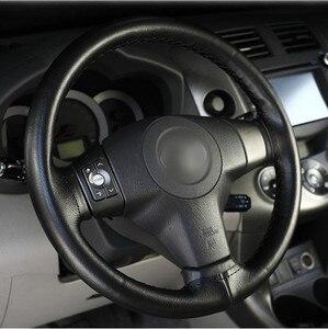 Image 3 - DIY Lenkrad Abdeckungen/Weiche Faser Leder geflecht auf die lenkung rad von Auto Mit Nadel und Faden innen zubehör