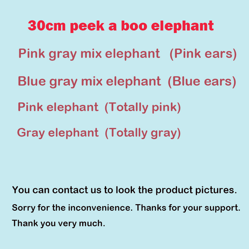 Image 2 - 30cm Peek a Boo Elephant Stuffed Plush Doll Electric Toy Talking Singing Musical Toy Elephant Play Hide and Seek for Kids Gift-in Electronic Plush Toys from Toys & Hobbies