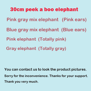 Image 2 - 30cm Peek a Boo Elephant Stuffed Plush Doll Electric Toy Talking Singing Musical Toy Elephant Play Hide and Seek for Kids Gift