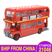 21045 The London Bus Model Kit Genuine Technic Series Set Building Blocks Bricks Children Toys Gifts Compatible Legoings 10258