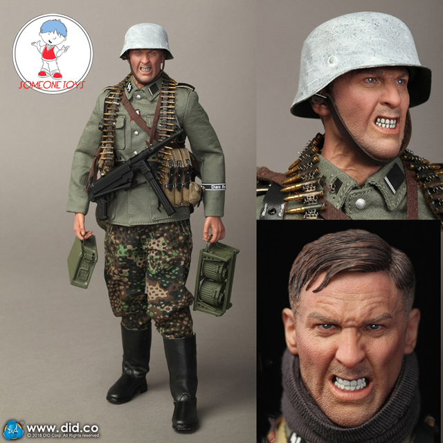 "DID D80131 1/6 WWII SS German Soldier Action Figure Empire Armored Division MG42 Machine Gunner B ""Egon"" Model Doll Collection"