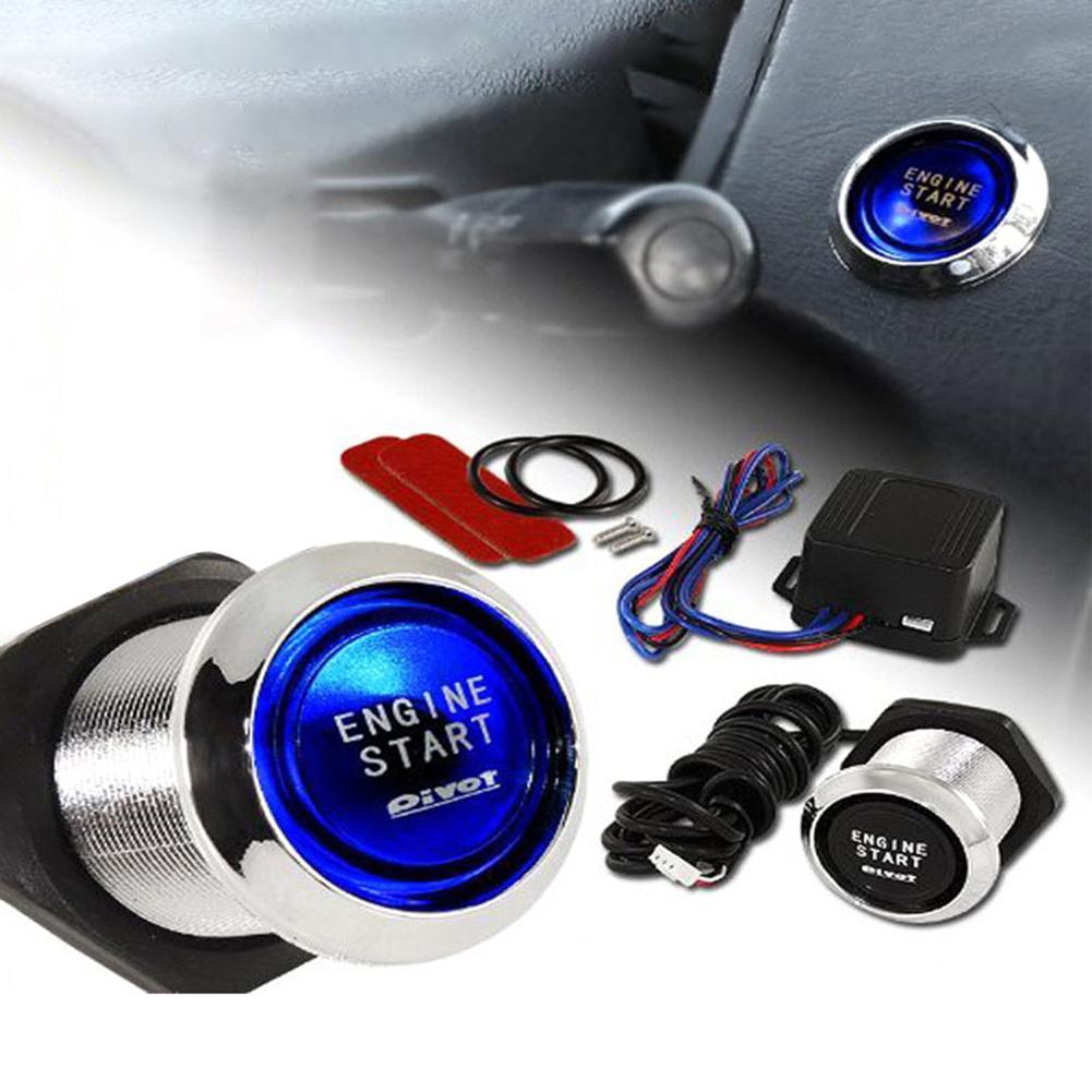 Автомобильная кнопка запуска двигателя RFID Блокировка двигателя система зажигания без ключа кнопка запуска двигателя title=