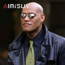 Aimisuv Мужские Круглые Солнцезащитные очки без оправы мужские