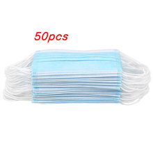50pcs/lot Disposable Mouth Face Mask Non-Woven Anti-Dust Ear Loop Face Mouth Unisex Masks Dustproof Facial Protective Cover Mask