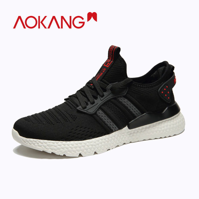 AOKANG 2020 Spring Summer Slip On Shoes Men Light Breathable Mesh Casual Shoes Fashion  Sneakers Tenis Masculino Adulto Shoes