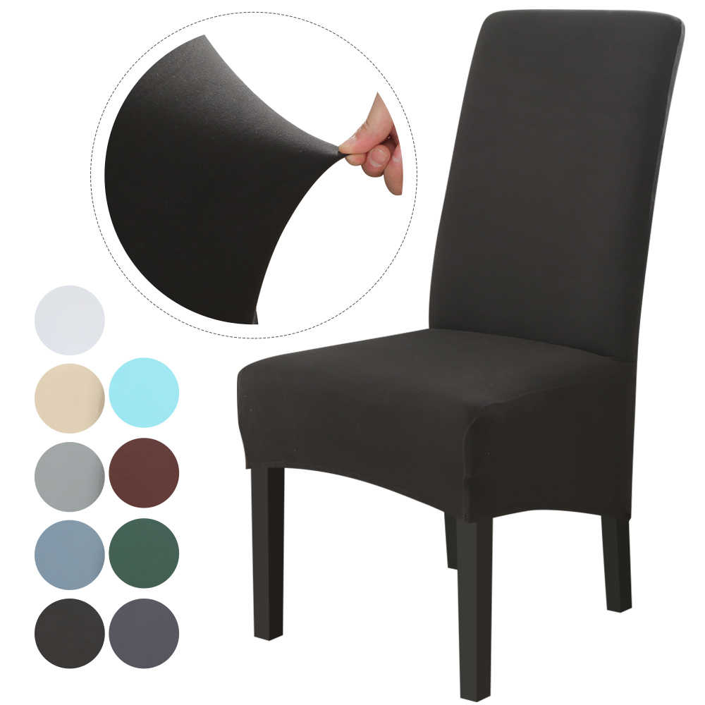 XL Size Chair Covers Spandex Solid Color Dining Chair Covers Anti-dirty Stretch Chair Cover Kitchen