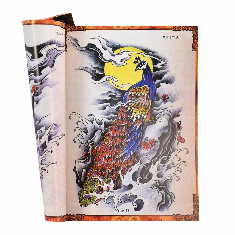 Persediaan Buku Referensi Gambar Tattoo Flash Art Lembar Instruksi Naga Putri Duyung Setan Pola Tato Aksesori Untuk Artis