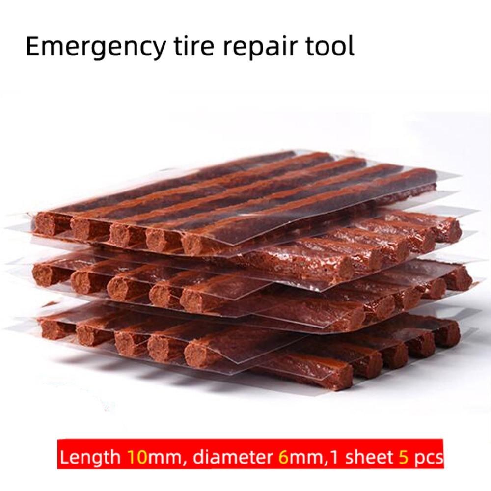 10Pcs/lot Car Motorcycle Bike Rubber Strips Tubeless Seal Strip Vacuum Wheels Tire Puncture Tape Auto Tire Repair Tools