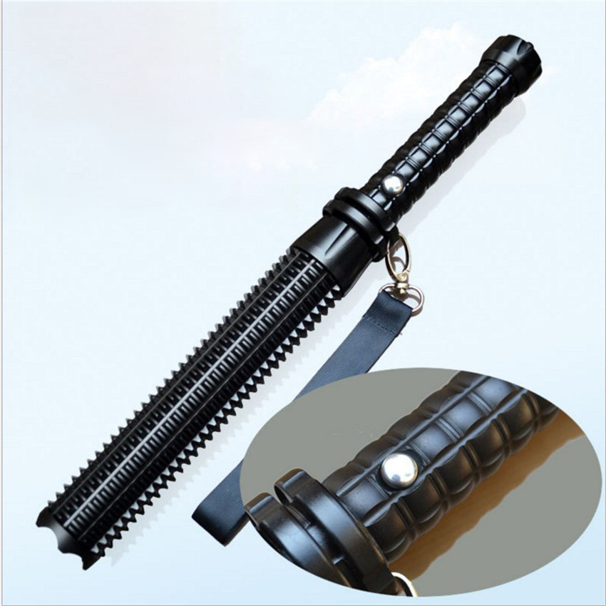 Portable Powerful Self Defense Flashlight Stick Telescopic Mace Rechargeable Q5 LED Flashlight Torch Self-defense Security Lamp