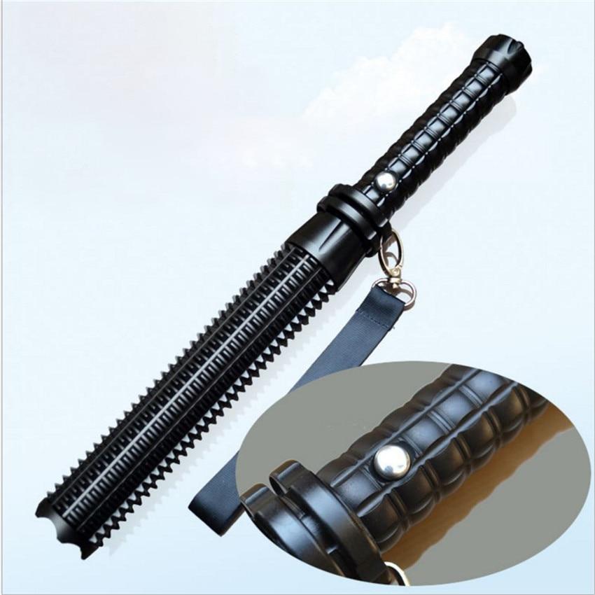 Portable Powerful Self Defense Flashlight Stick Telescopic Mace Rechargeable Q5 LED Flashlight Torch Self-defense Security Lamp