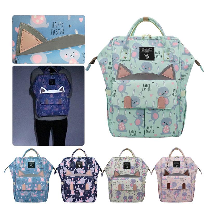 Diaper Bag Reflective Mummy Daddy Backpack Luminous Baby Stroller Bag Waterproof Oxford Handbag Nursing Nappy Maternity Bag