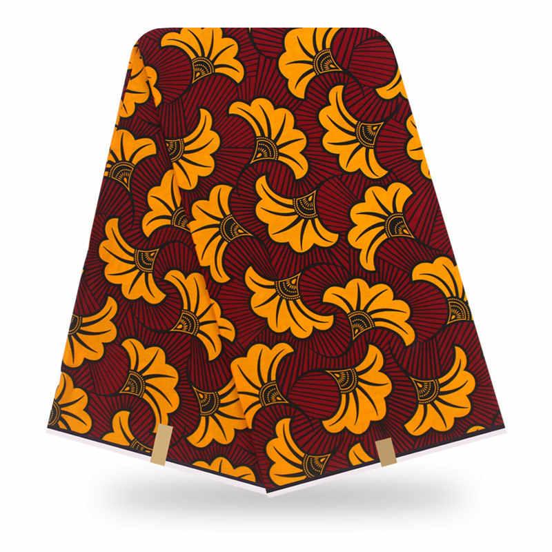 Yüksek kaliteli afrika baskılar kumaş işlemeli hollandalı balmumu nijeryalı hollandalı balmumu dantel 6 yards/adet 100% pamuk