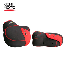 KEMiMOTO ถุงมือรถจักรยานยนต์ Handlebar ถุงมือสกูตเตอร์มือฤดูหนาวถุงมือ ATV ขนสัตว์ Mitts รถจักรยานยนต์ Quad BIKE กันน้ำ