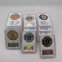 36 rodzajów Dogecoin/Bitcoin/ETH/Litecoin/Dash/Ripple/Monero/EOS Metal fizyczne srebro/złoto Ada Cardano moneta z akrylowa skrzynka