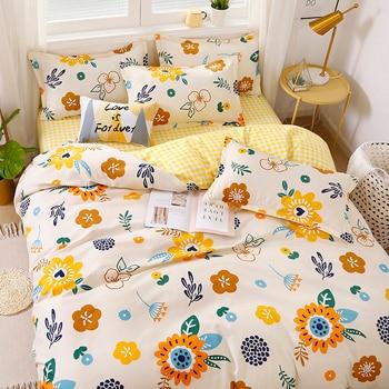 Nordic Bedding Set Orange Flower 13