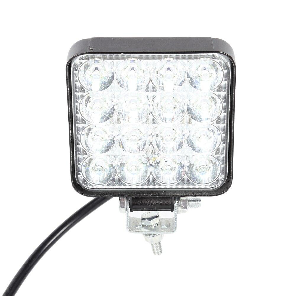 16LED 48W /14LED 42W Work Light 12V 24V Car LED Spotlight Light Square Round Auto Truck Off Road Mini Ledbar Offroad Accessories