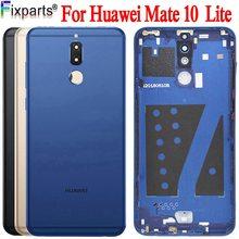 Nowy dla Huawei Mate 10 lite pokrywa baterii G10 obudowa na tył telefonu obudowa tylna wymieniona 5.9