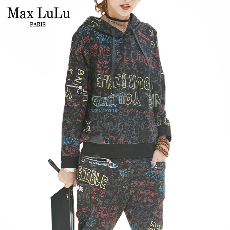 Max LuLu 2020 Spring Fashion Korean Ladies Punk Tops And Pants Womens Hooded Two Piece Sets Camouflage Outfits Casual Tracksuit