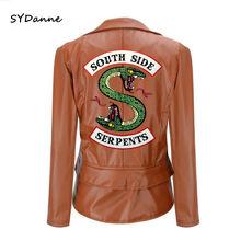 Куртка riverdale south side пальто из искусственной кожи Женское