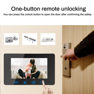 "Image 3 - 7""Video Door Phone Video Doorbell ID Card+Password Access Control Intercom System with Night Vision and Wireless Remote Switch"