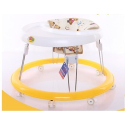 Baby Walkers With Wheel Multifunctional Toddler Trolley Sit-to-Stand for Kid's Learning Balance Safe Infant Seat Adjustable Car
